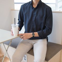 Korean Fashion Men, Mens Fashion Suits, Kpop Fashion Outfits, Mode Outfits, Stil Inspiration, Mode Ulzzang, Formal Men Outfit, Looks Street Style, Stylish Mens Outfits