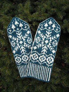 Ravelry: Elisabeth pattern by Solveig Larsson Fair Isle Knitting, Lace Knitting, Knitting Socks, Knitting Patterns, Knit Crochet, Crochet Patterns, Knitted Mittens Pattern, Knit Mittens, Knitted Gloves