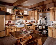 Straight kitchen layout well designed kitchen layout,small kitchen island with chairs rustic kitchen menu,rustic open kitchen and living room white modern rustic kitchen. Hickory Kitchen Cabinets, Cottage Kitchen Cabinets, Outdoor Kitchen Cabinets, Kitchen Cabinet Doors, Oak Cabinets, Kitchen Counters, Kitchen Sink, Kitchen Layout, New Kitchen