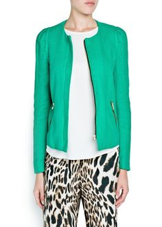 COTTON ZIPPED JACKET  499,-