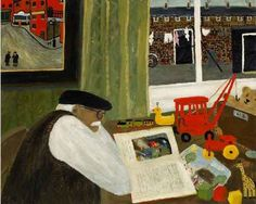 The Red Crane. Naive Painting by English artist Gary Bunt