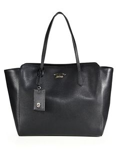 Gucci - Gucci Swing Large Leather Tote