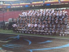 With Super Bowl 50 almost here, Cam Newton and the Carolina Panthers decided to add a little spice to their team photo. Hit The Dab, Carolina Panthers Team, Carolina Pride, Panther Nation, Nfl Playoffs, Team Photos, Bay Area, A Team