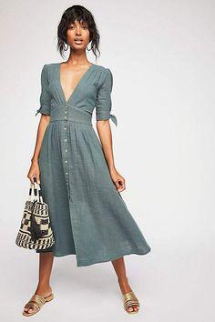 The Endless Summer Love Of My Life Midi Dress Linen Dresses 13c19e398e81