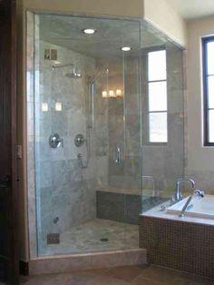 """Résultat de recherche d'images pour """"petite salle de bain douche et baignoire"""""""