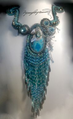 https://www.etsy.com/shop/LynnParpard?ref=listing-shop-header-item-count One of a Kind Art Piece made one bead at a time .....Could be in your Collection  STUNNING