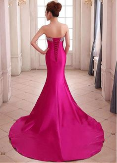 Chic Satin Sweetheart Neckline Floor-length Sheath Prom Dress