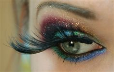 mermaid makeup with SMH palette and NYX Glitterati glitters