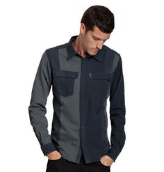 Hearty button-up made from an organic cotton and wool blend.....again not sure why....but I like it.   nau.com