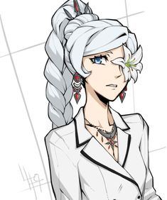 Trying for something a little more artsy-fartsy with the decorative flower and way-too-gaudy jewellery Weiss's new look is great and all, but come on, only having the snowpea coat for like, half a. Rwby Anime, Rwby Fanart, Rwby Weiss, Blake Belladonna, Anime Art Fantasy, Anime Kiss, I Love Anime, Drawing Reference, Female Characters