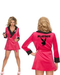 Playboy Girlfriend Robe Adult Womens Costume $34.98