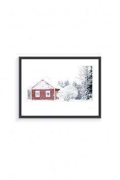 Poster with frame Freezing Winter - Finland - By Emmanuel Catteau - Landscape - Photography - Collaboration Frame Sizes, Black Glass, Finland, Landscape Photography, Collaboration, Frozen, Poster Prints, Paper, Winter