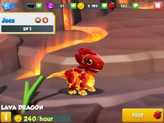 My lava dragon in my new dragon game: Dragon Mania Legends! He is my favorite! Dragon Ml, Dragon City, New Dragon, Dragon Games, Hidden Pictures, Lava, Pikachu, Fictional Characters, Legends