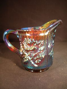"""Imperial IG """"Lustre Rose"""" Amber Pitcher. PERFECT! Beautiful Carnival Glass!"""