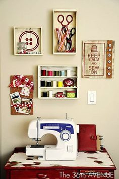 http://blog.craftzine.com/archive/craft_rooms/#   Want to waste a few hours and great some great organizing ideas for your craft area? You're in luck then. And you're welcome.