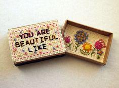 Greeting Card Matchbox Happy Birthday Card Matchbox Flower
