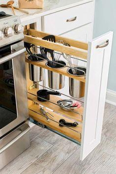Ikea Kitchen Design, Small Kitchen Organization, Small Kitchen Storage, Kitchen Shelves, Kitchen Decor, Kitchen Ideas, Organization Ideas, Storage Ideas, Storage Solutions