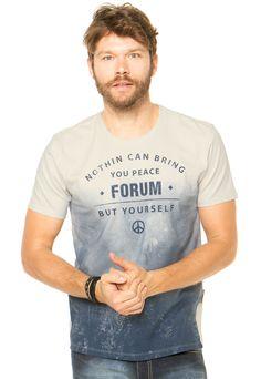 Camiseta Forum Degradê Multicolorida - Marca Forum                                                                                                                                                                                 Mais