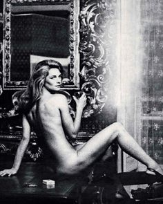 """David Downton """"CHARLOTTE. Is this the ultimate image of Charlotte Rampling? It was taken by Helmut Newton in room…"""""""