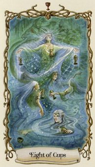 February 26 Tarot Card: Eight of Cups (Fantastical Creatures deck) Feelings change over time... Just because something was once wonderful, doesn't mean it's forever. Follow your heart and free yourself now