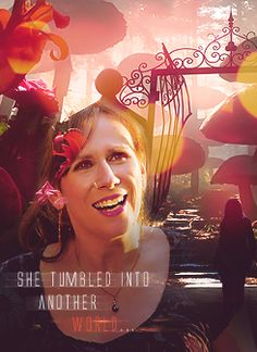 Doctor Who - Donna (Alice in Wonderland), tumbled into another world. Refusing to hold her tongue. 11th Doctor, Doctor Who, Donna Noble, Hello Sweetie, Don't Blink, Rose Tyler, Torchwood, Time Lords, David Tennant