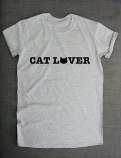 Cat Love Girls Lady TShirt by ResilienceStreetwear on Etsy Cat Shirts d39d44f7a66c