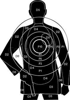 Vector of 'The target for shooting at a silhouette of a man with gun' on Colourbox Vetor do & # O alvo para atirar em uma silhueta de um homem com arma & # na Colourbox Shooting Targets, Shooting Sports, Shooting Guns, Shooting Range, Pistol Targets, Hidden Weapons, Range Targets, Survival, Self Defense Techniques