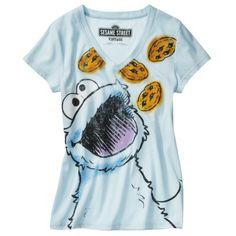 Sesame Street Junior's Cookie Monster Tee - Blue