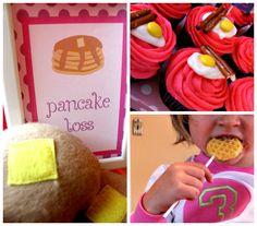 Pancakes & Pajamas - cutest bday party idea!