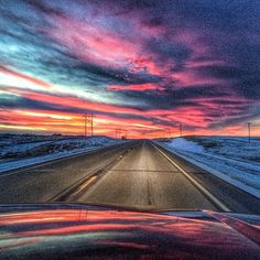 """Red sky at night, farmer's delight?"" Great photo of sunset reflections on the North Dakota prairie by (at)katpinke. Share your #midwestmoment for a chance to be featured on Instagram!"