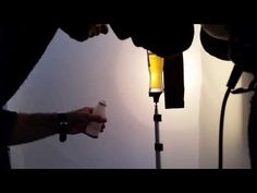 behind the scenes, beer advertising photography - liquid photography
