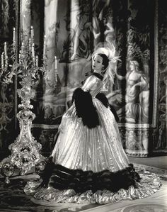 Portrait of Dolores del Rio in Madame du Barry directed by William Dieterle, 1934