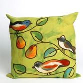 Found it at Wayfair - Song Birds Square Indoor/Outdoor Pillow in Green