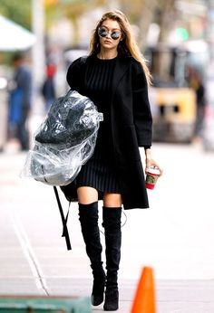 Gigi Hadid - boots