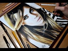 Drawing Cara Delevingne - Colored Pencil Time-lapse Sketch by Heather Rooney on YouTube