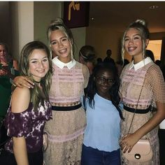Lisa and Lena with fans at the TCAs