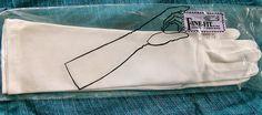 1960 Long White FineFit Stretch Gloves size by VintageUnderTheSun, $49.00
