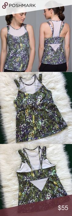 Lululemon Running In The City Tank Floral Dot 10 We're all for enthusiasm, but there are just some things that shouldn't jump up and down. We designed this tank to keep our bosom buddies supported and ventilated when we pick up the pace. Woman's size 10. Garment is in EUC - no flaws to note. Please offer or ask any questions! lululemon athletica Tops Tank Tops
