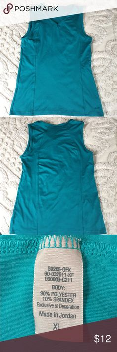 """Champion workout tank Teal, v-neck, sleeveless tank. Stretchy, 17"""" bust, 25"""" length Champion Tops Tank Tops"""