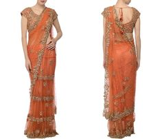 Net Sarees with Heavy Work