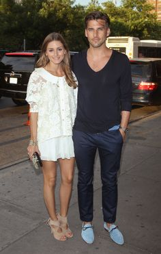 The couple most likely to be best dressed, Olivia Palermo and Johannes Huebl, arrived arm in arm for the New York premiere of Girl Most Likely.