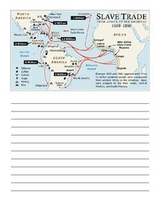 Triangular trade: The african slave trade formed one part of a ...