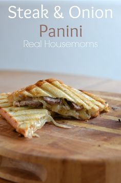 Steak & Onion Panini | Real Housemoms | This is such a great way to have a hot lunch with leftovers