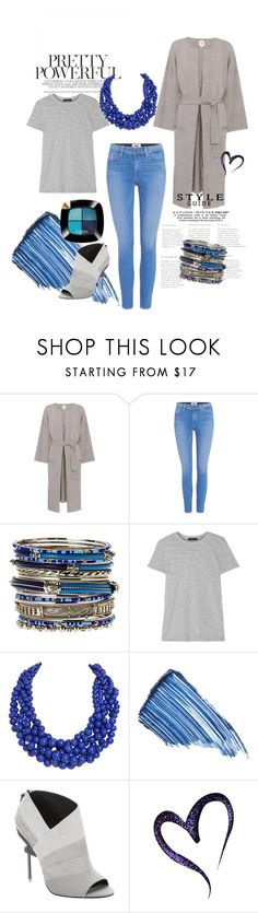 """""""Blue and Grey"""" by t-from ❤ liked on Polyvore featuring Jardin des Orangers, Paige Denim, Amrita Singh, ATM by Anthony Thomas Melillo, Humble Chic, Sisley, L.A.M.B., L'Oréal Paris, contest and grey"""