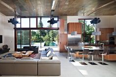 there's lots I don't like about this house (just not my style), but I LOVE the integration of outdoor & indoor living - loads of light and space.