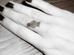 Finger Rose Tattoo by GlorifiedDoorbell.deviantart.com on @deviantART