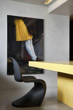 Panton Chair Schwarz Danisch Design Möbel Designer Stühle