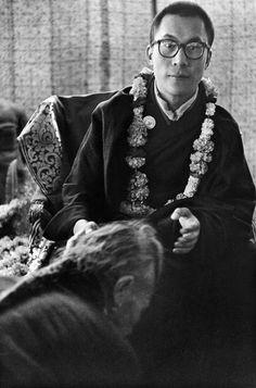 O Dalai Lama na Índia em 1956