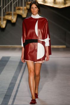 Tod's Spring 2014 Ready-to-Wear Collection Slideshow on Style.com;   Like fabric blocking design and colorway.