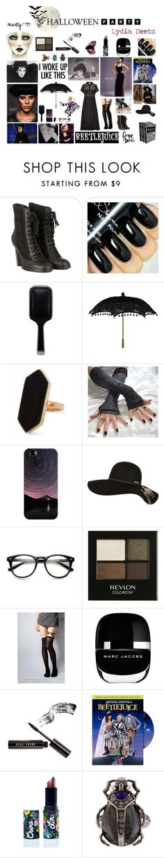 Halloween Party: Lydia Deetz by marty-97 on Polyvore featuring moda, rag & bone, Marc Jacobs, Alexander McQueen, Jaeger, Billabong, Casetify, Bobbi Brown Cosmetics, Revlon and Lime Crime